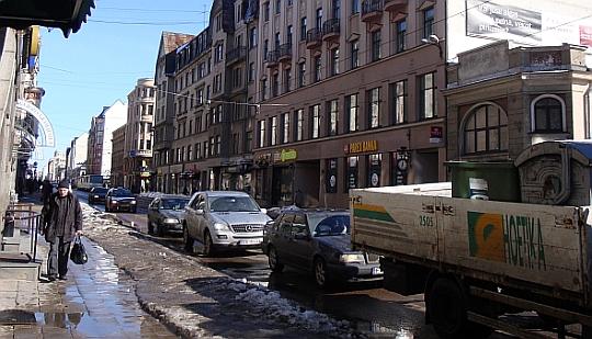 Barona iela, Rīga. 2010.gada 10. marts