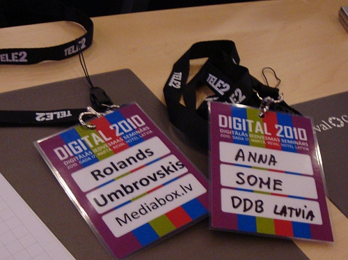 Rolands (mediabox.lv) Anna (DDB Latvia) @ digital2010