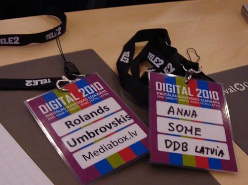 Rolands (mediabox.lv) Anna (DDB Latvia) @ digital2010
