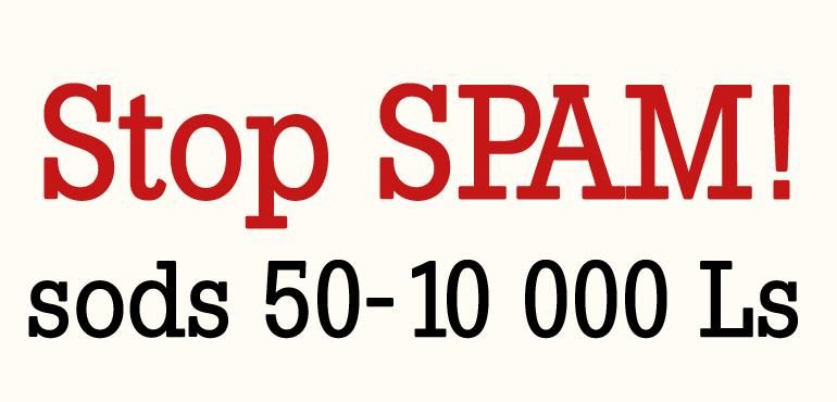 stop spam! sods 50 - 10 000Ls