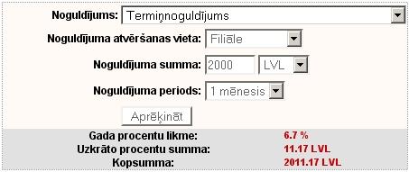 Termiņnoguldījums 2000Ls