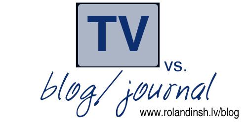 TV vs Blog / journal