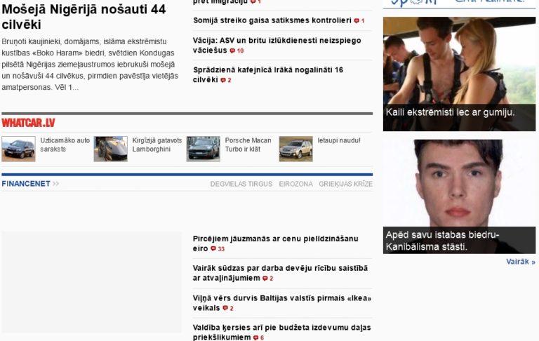 ziņu virsraksti 2013.08.13