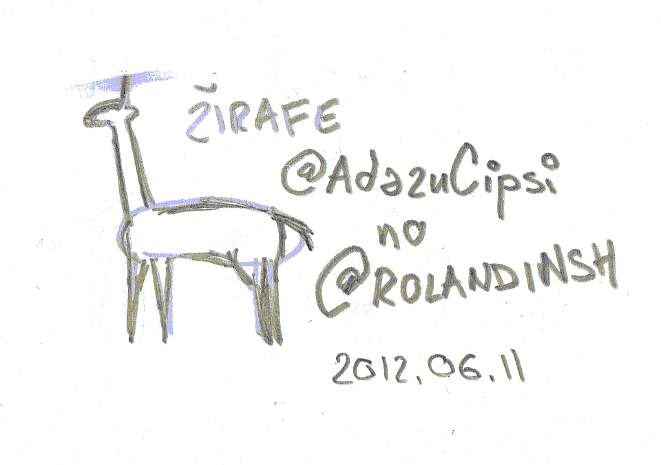 Žirafe no @rolandinsh twitter @AdazuCipsi