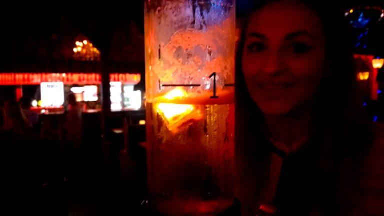 Maria in Heidi's beer bar
