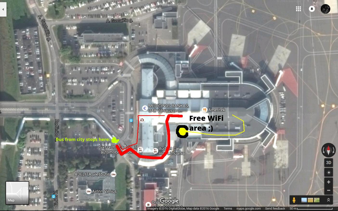 Vilnius airport instructions