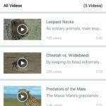 Facebook Watch mobilajā telefonā. Video saraksts.
