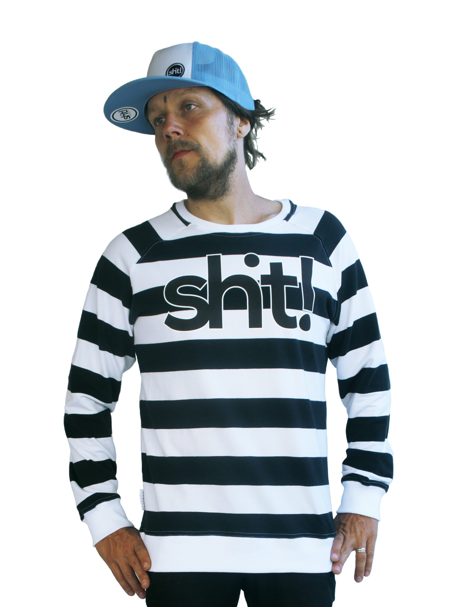 Black and white striped Sweatshirt - in 4 life collection