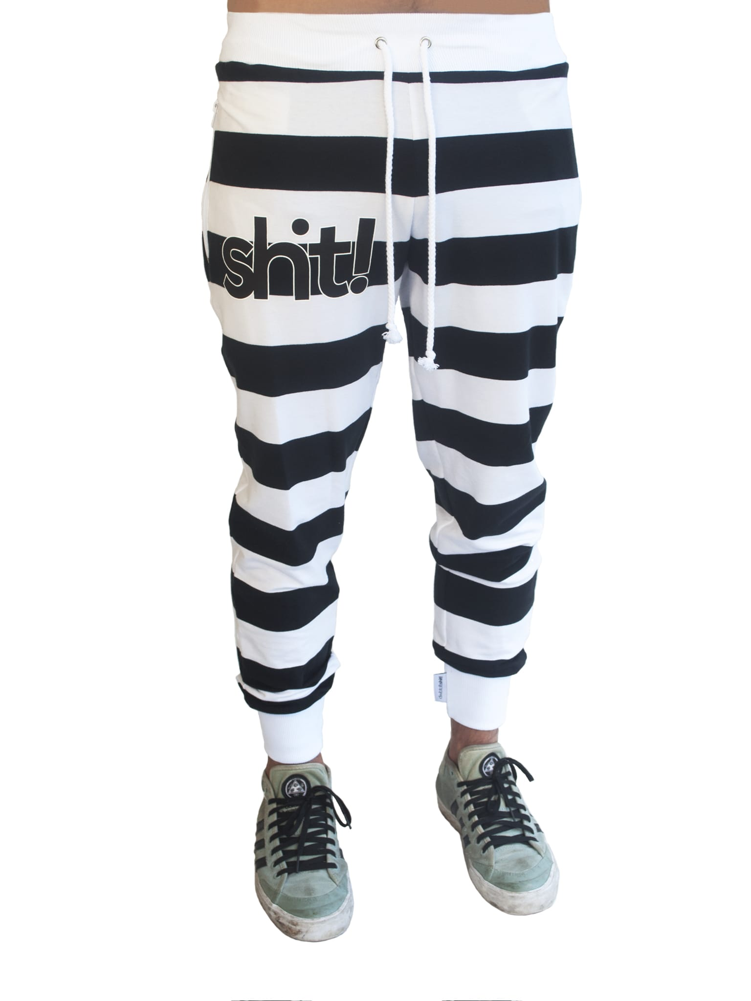 Black and white striped Sweatpants - in 4 life collection