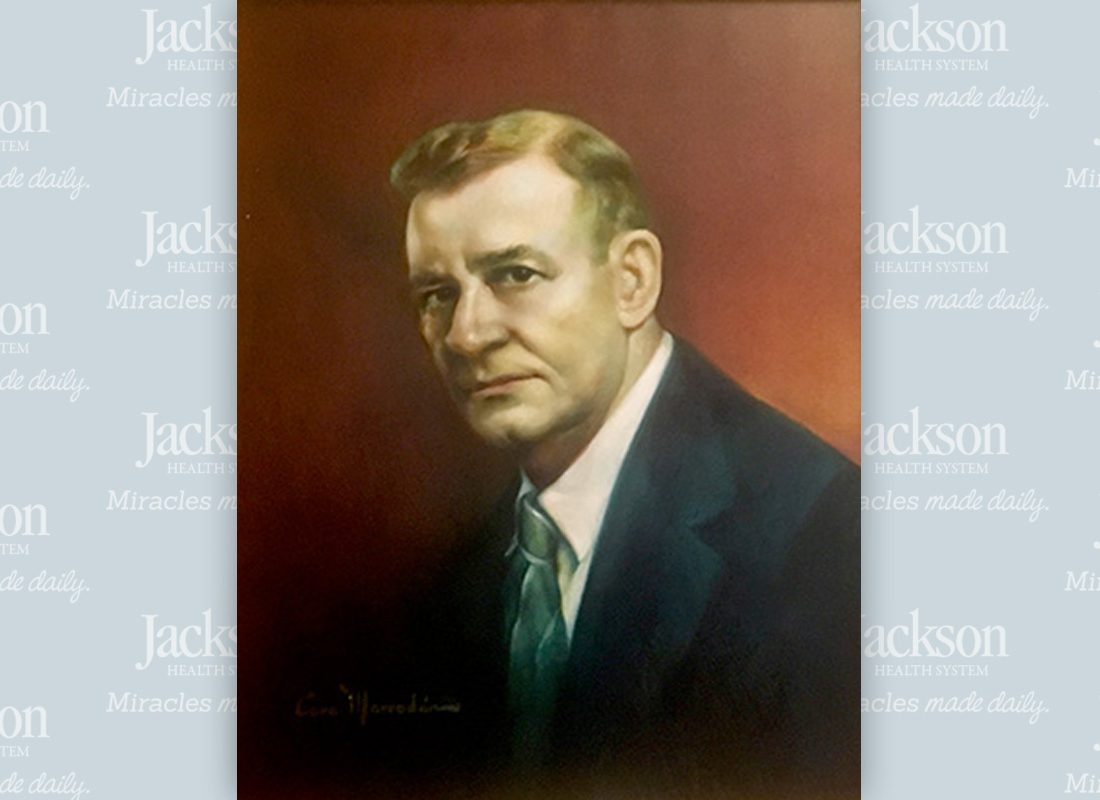 Portrait of Dr. Skaggs, Jackson's First Chief of Staff