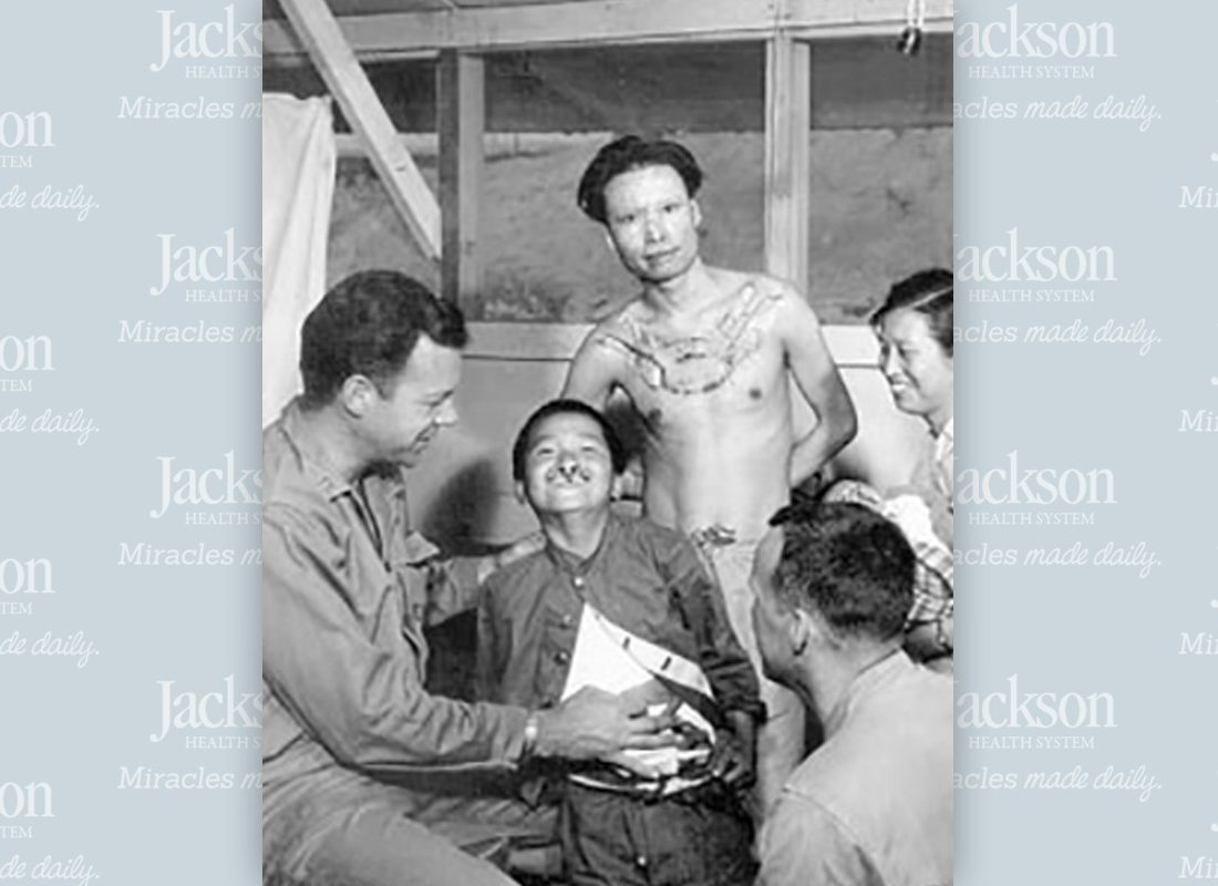 Little boy received new treatment for cleft lip with plastic surgery from Jackson doctor in 1955