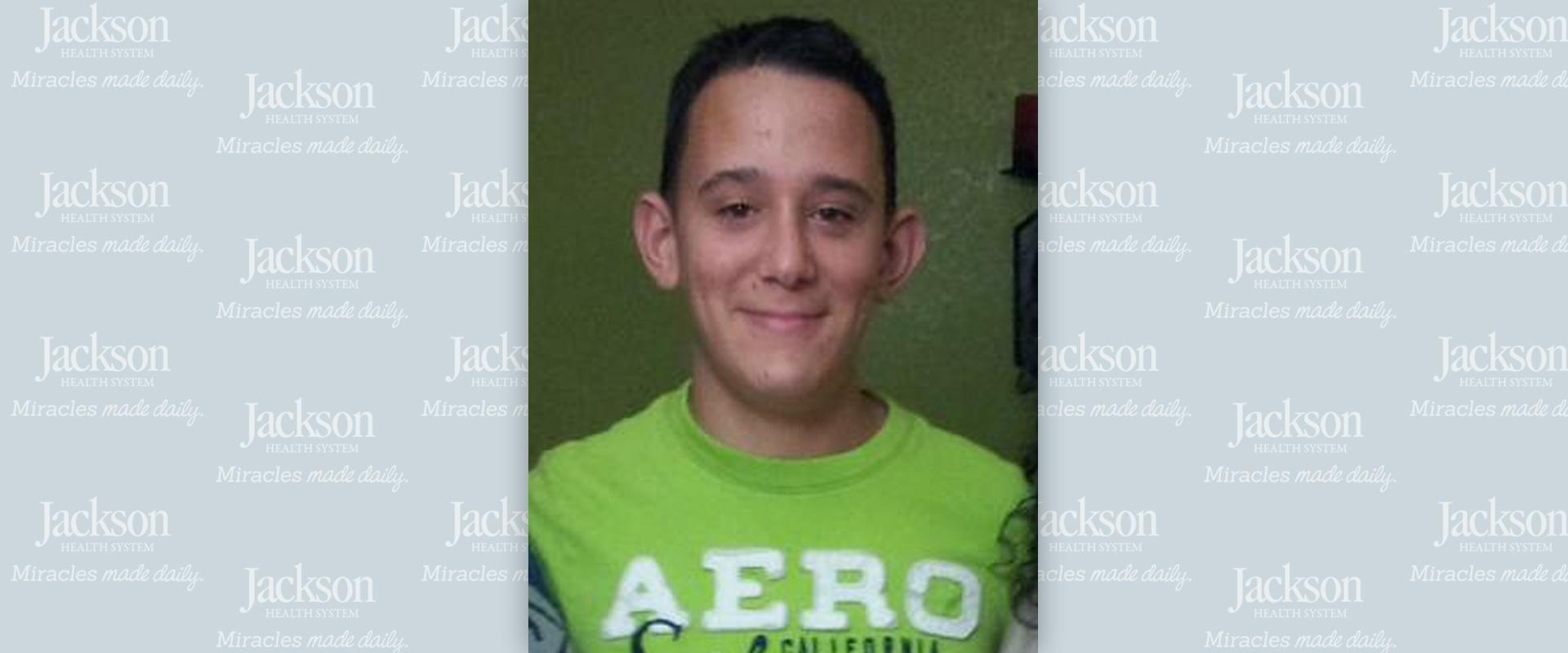Yasser Lopez, teenage Jackson patient that was saved