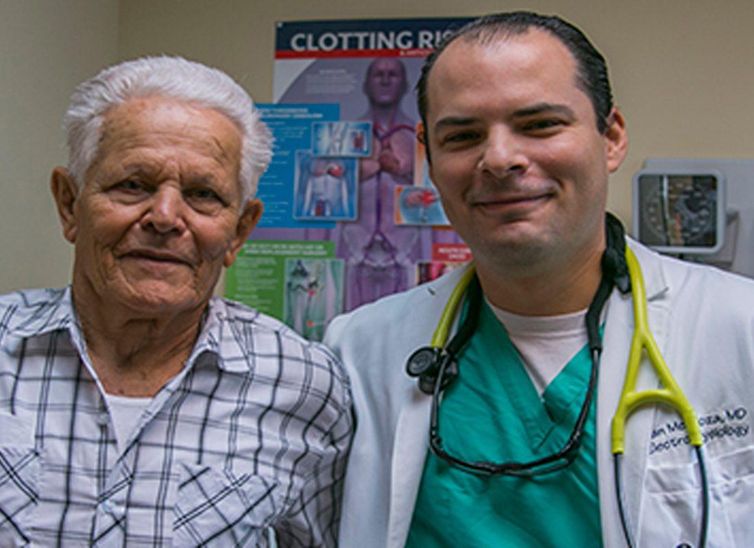 Felipe Finale and Dr. Zambrano