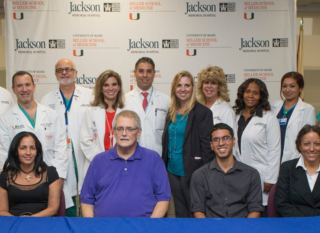 Florida's first three way transplant Jackson Health Miami