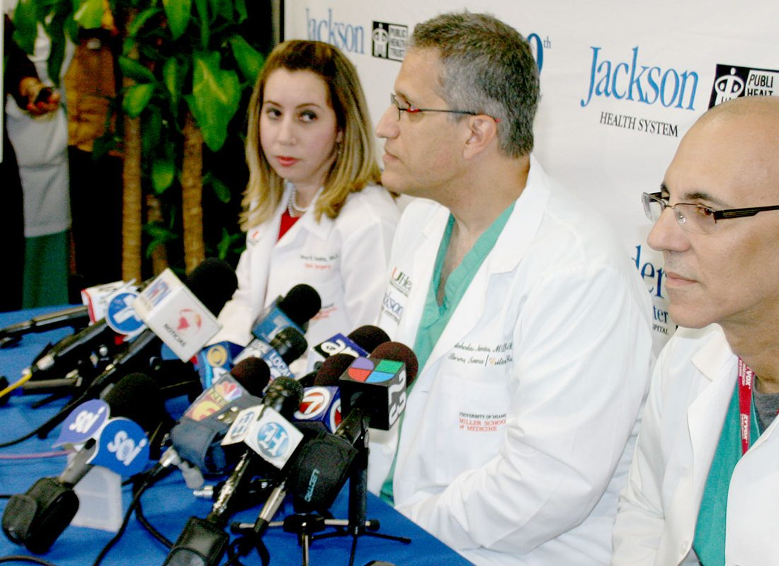Ronald Poppo Press Conference Ryder Trauma Center