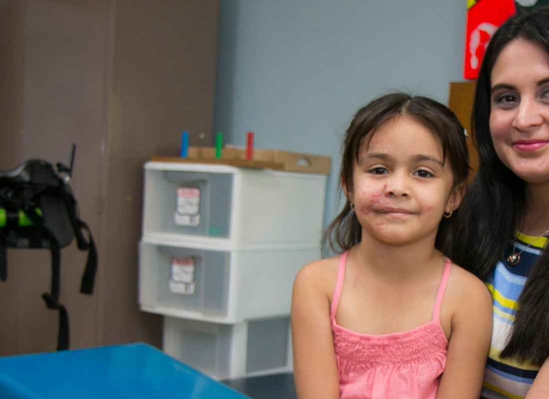 Five-year-old girl survivor of car accident with mother at Jackson Rehabilitation Hospital