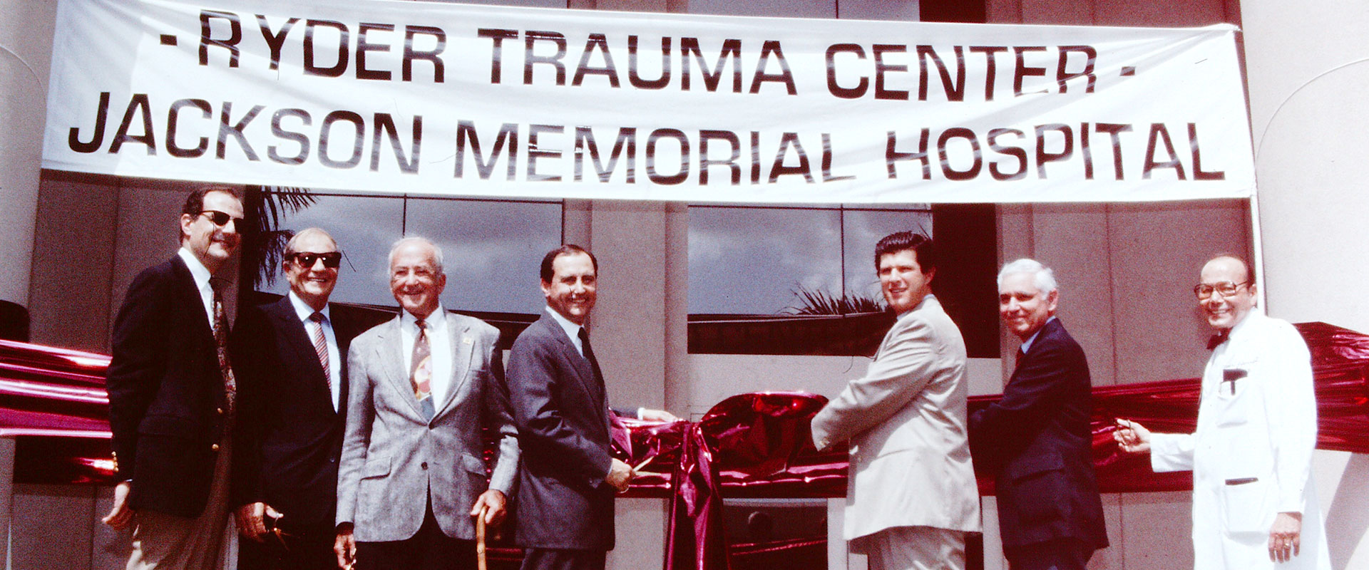 Ryder Trauma Center Ribbon cutting grand opening in 1992
