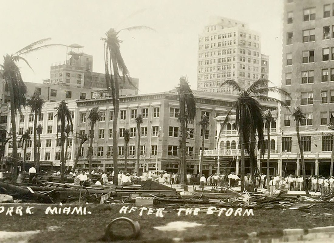 Royal Palm Park Miami after the Storm in 1926
