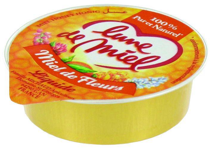 Miel de fleurs liquide - LUNE DE MIEL - Carton de 120 barquettes