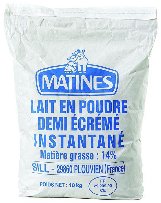 Lait 1/2 écrémé en poudre 14% mg - SILL MATINES - Sac de 10 kg