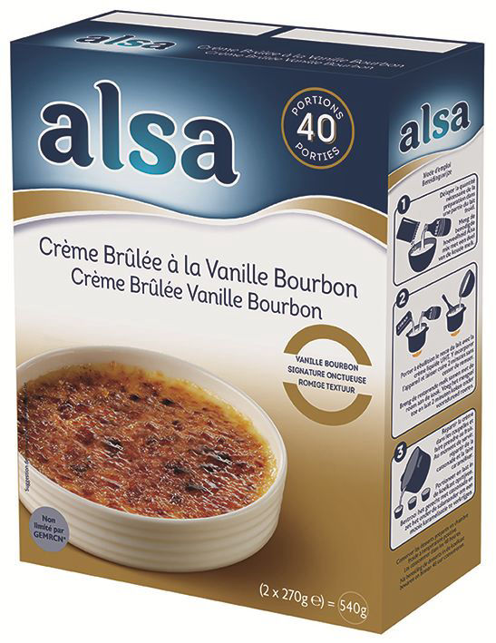 Crème brûlée saveur vanille Bourbon - ALSA - Boite de 540 g