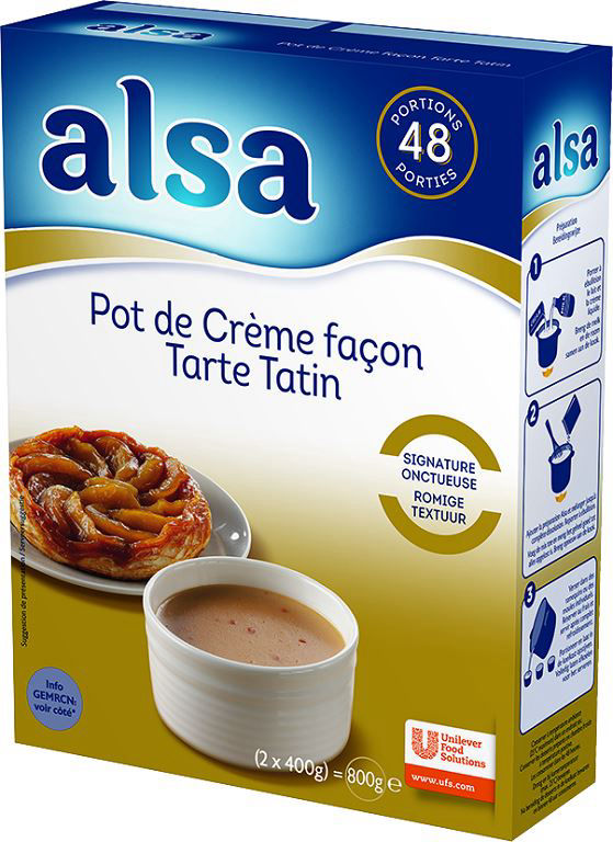 Pot de crème façon tarte tatin - ALSA - Boite de 800 g