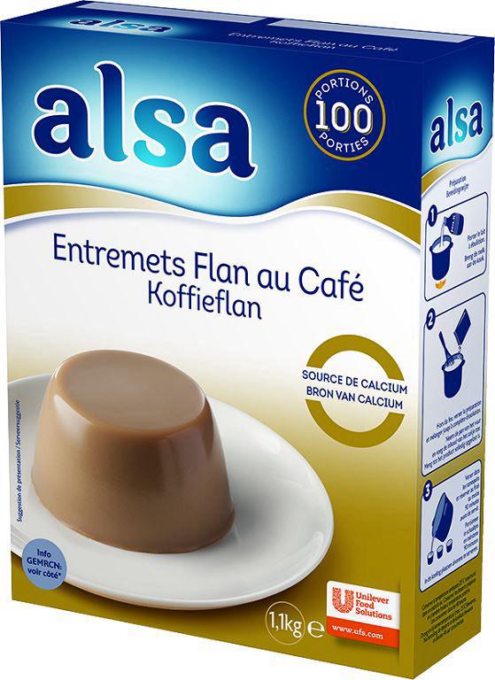 Entremets flan saveur café - ALSA - Boite de 1,1 kg