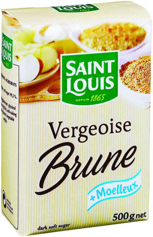 Sucre vergeoise brune - SAINT LOUIS - Sachet de 500 g