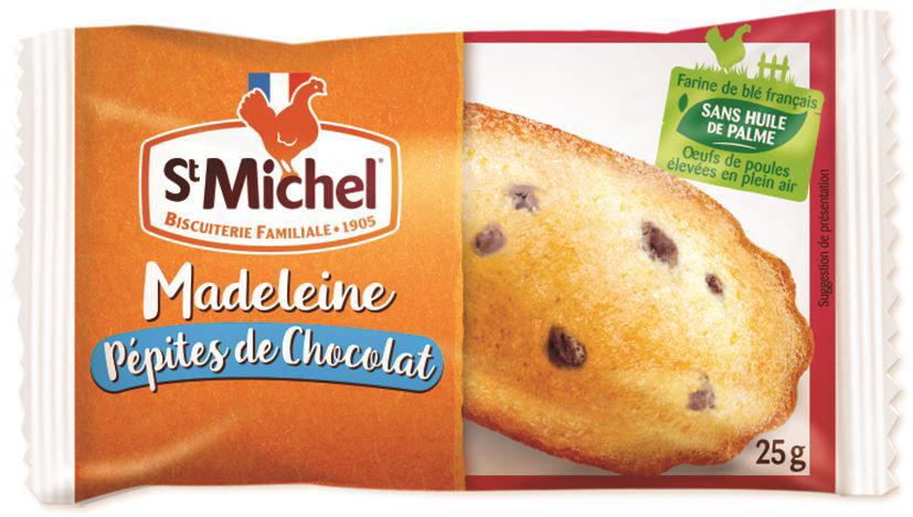 Madeleine aux pépites de chocolat - ST MICHEL - Carton de 100 sachets