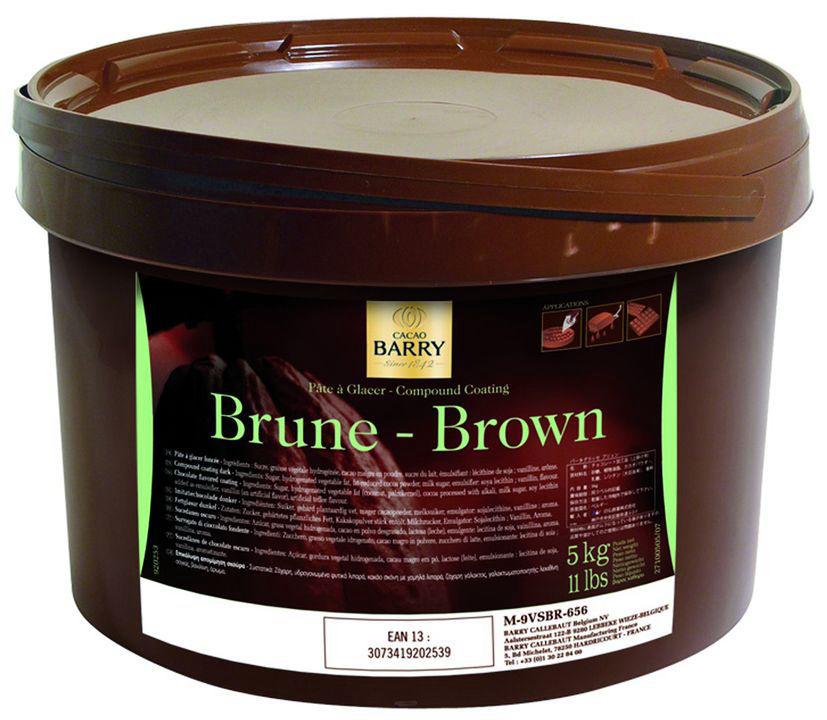 Pâte à glacer brune - BARRY - Seau de 5kg