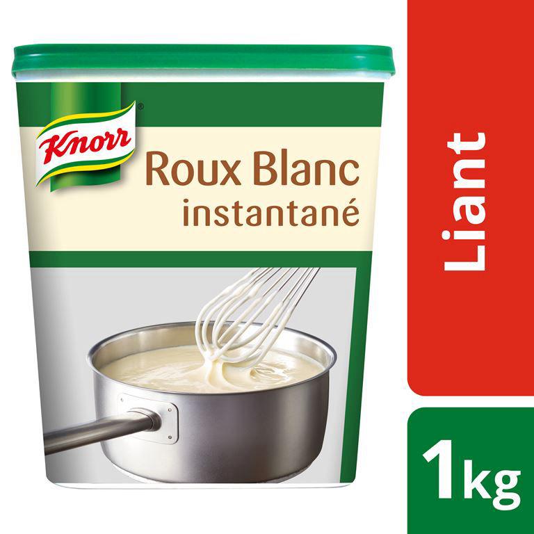 Roux blanc instantané déshydraté pauvre en sel - KNORR - Boite de 1 kg