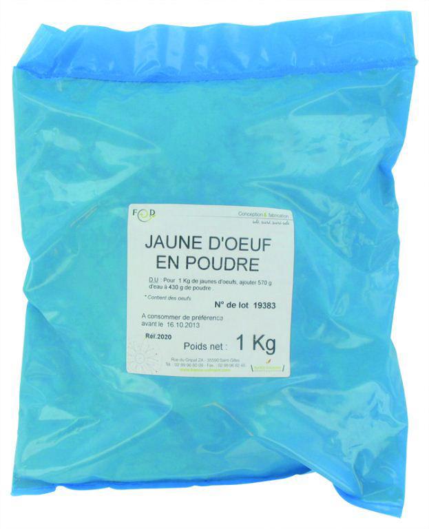 Jaunes d'oeufs en poudre - LABO LACTAVIA - Sac de 1 kg