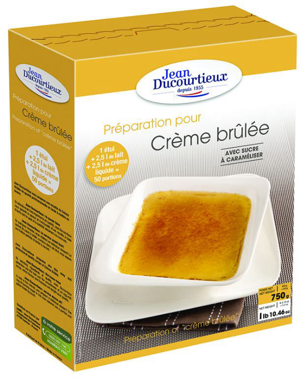 Crème brûlée avec sucre à caraméliser - J DUCOURTIEUX - Boite de 750 g