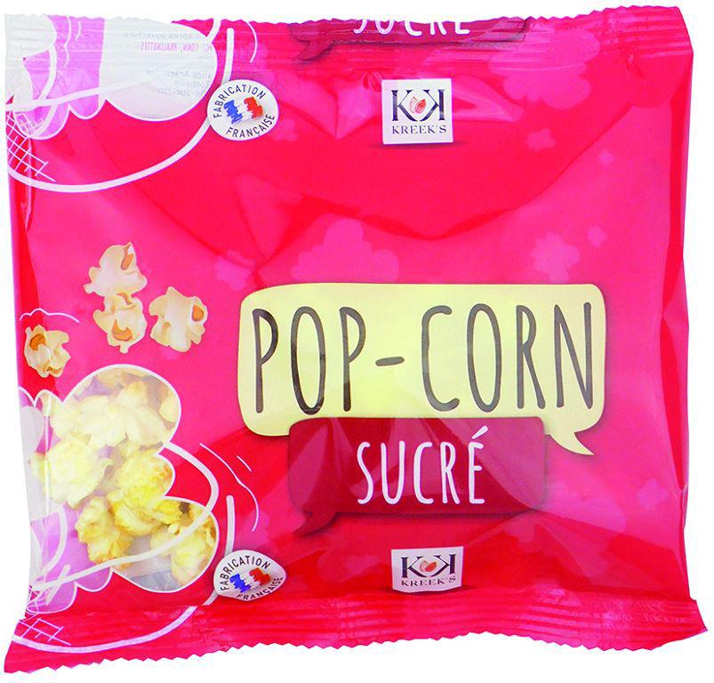 Pop-corn sucré - KREEK'S - Carton de 90 sachets