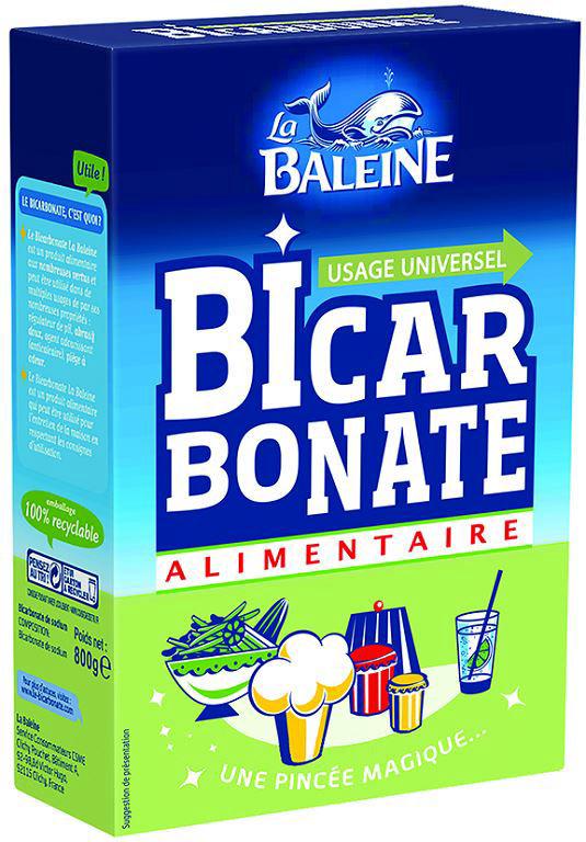 Bicarbonate alimentaire - LA BALEINE - Boite de 800 g