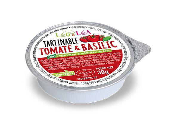 Tartinable tomate et basilic - SOULIE - Carton de 144 coupelles