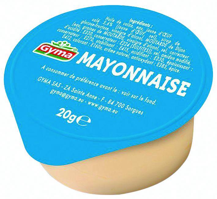 Mayonnaise - GYMA - Carton de 216 coupelles