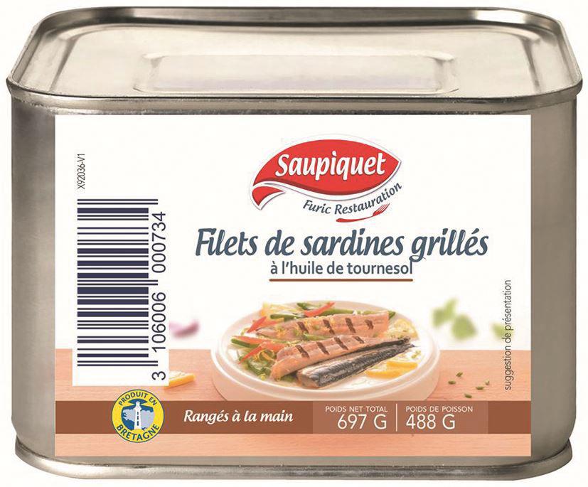 Filets de sardines grillés - SAUPIQUET - Boite 4/4