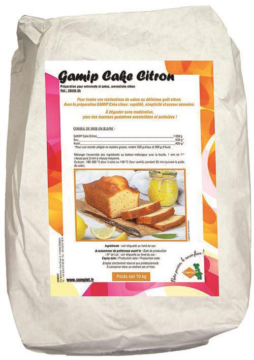 Préparation pour cake citron Gamip - COMPLET - Sac de 10 kg