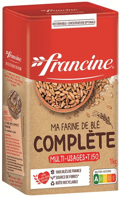Farine complète T50 - FRANCINE - Boite de 1 kg
