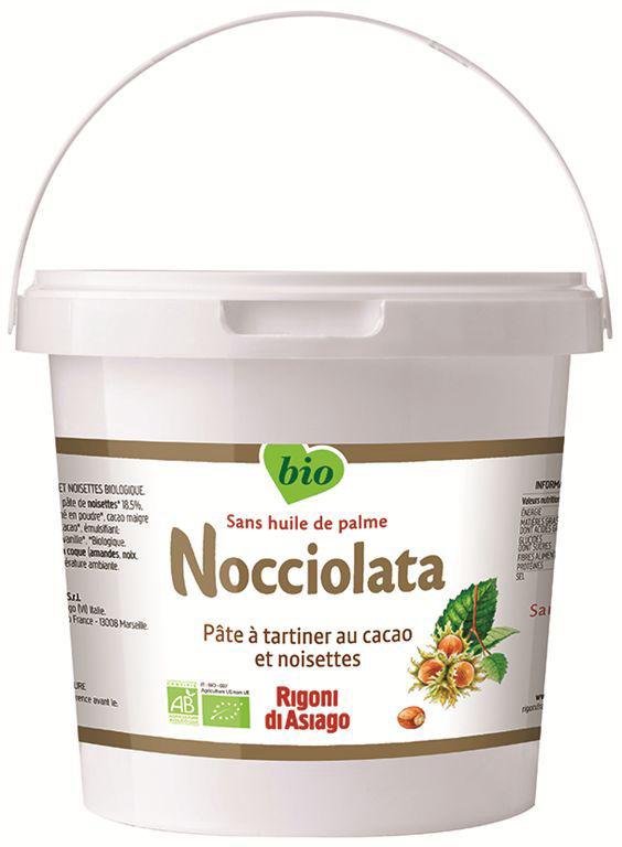 Pâte à tartiner Bio - NOCCIOLATA - Seau de 2.5 kg