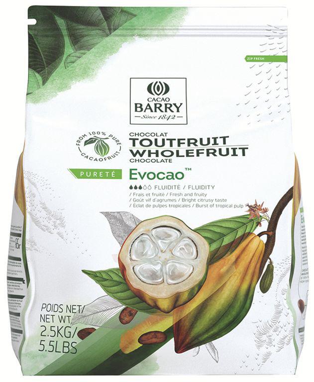 Chocolat noir 72% Evocao - BARRY - Sac de 2,5 kg