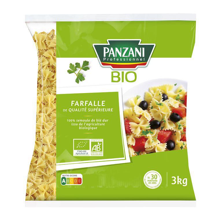 Farfalle QS Bio - PANZANI PLUS - Sac de 3 kg
