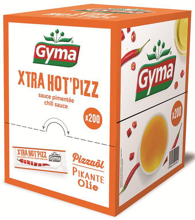 Huile pimentée spéciale pizza - GYMA - Boite de 200 sticks