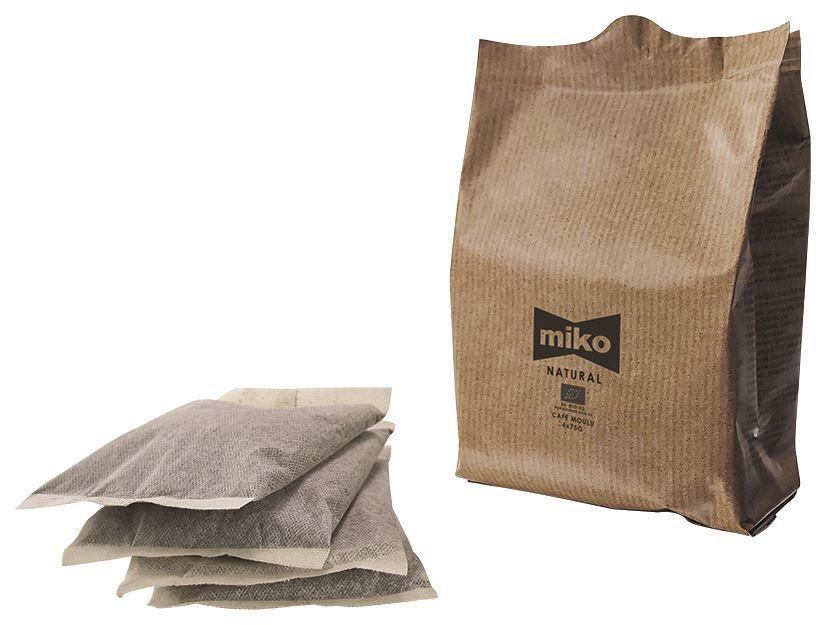 Café filtre 75% arabica 25% robusta Bio - MIKO - Carton de 48 doses