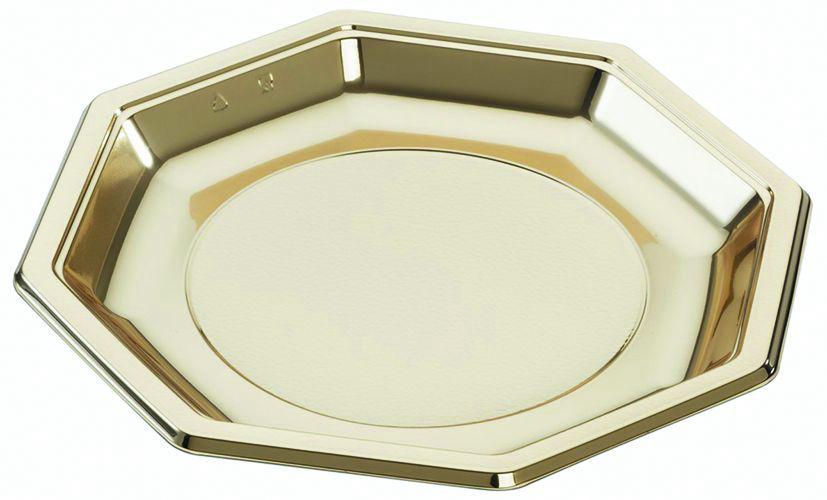 Assiette PS Octopack 18,5x18,5cm or - ALPHA FORM - Paquet de 25