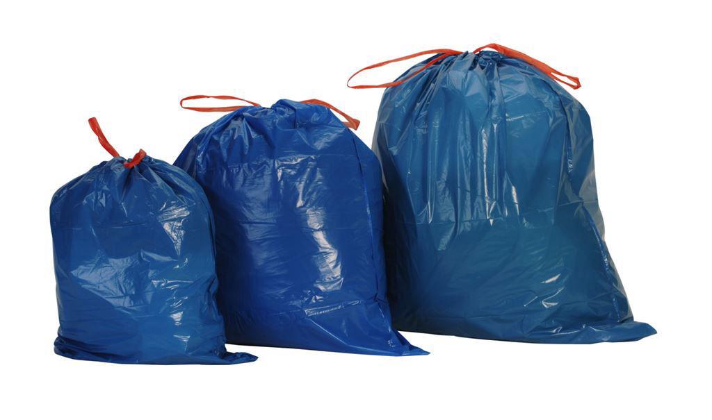 Sacs poubelle BD à liens coulissants