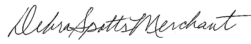 Debra Merchant signature