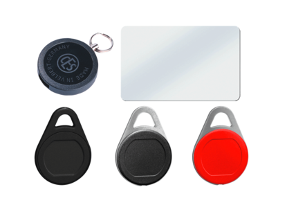 CES key fobs, ID, access media