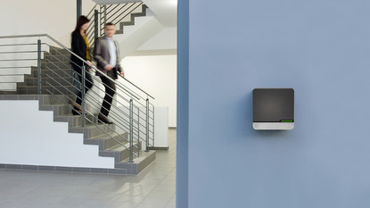 Wall terminals complete the access control system